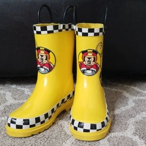 Toddler Mickey Mouse Rain Boots Size 11